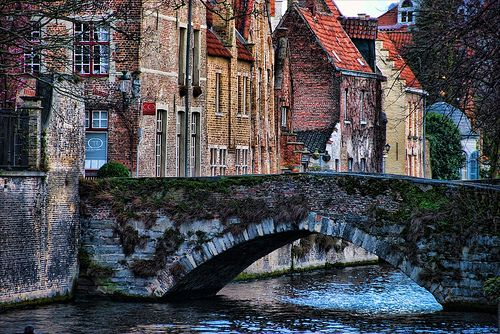 Brudges, Belgium. The food here is fantastic! The city is a place so lovely, you cannot help imagine what it would be like to live here.