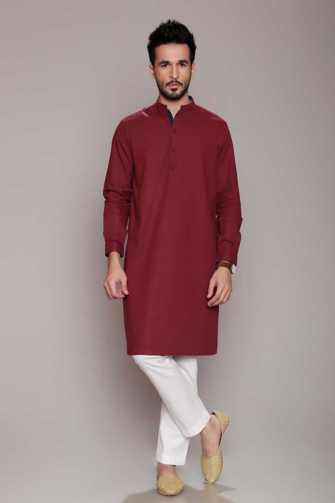 1bfa17b9cff9 RED KURTA PAJAMA DESIGN FOR EID