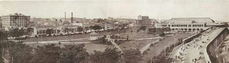 Central Railway Station and Belmore Park in Sydney  (year unknown).