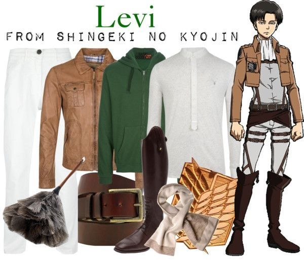 Casual cosplay of Levi (from Attack on Titan anime series)-- character inspired outfit