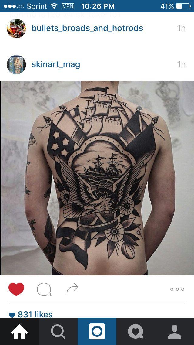 Best 25 traditional back tattoo ideas on pinterest for Kati vaughn tattoo