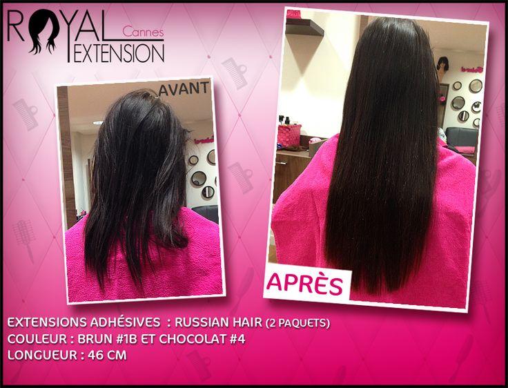 Extensions de cheveux bandes adhésives en cheveux russes ! http://www.royalextension.com/fr/catalogue/produit/extensions-adhesives-/-tape-raides-46-cm-russian-hair.38-401.html