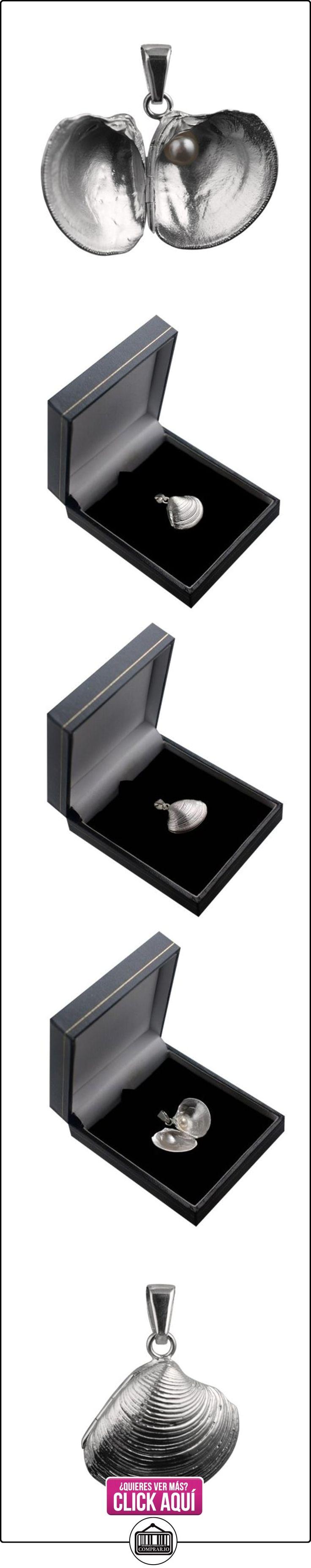 De plata fina 925/1000, 20 mm, Shell Sea con medallón con una perla En el interior de una liberación bajo fianza  ✿ Joyas para niñas - Regalos ✿ ▬► Ver oferta: http://comprar.io/goto/B00K77MGFI