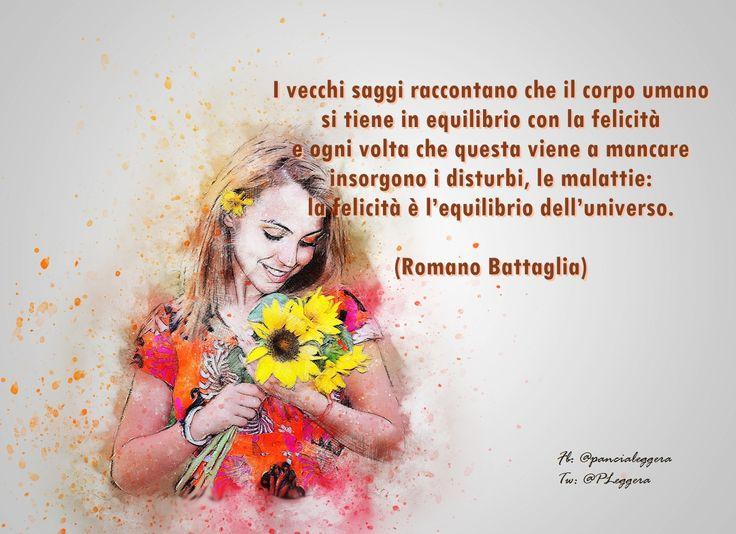 """#pensierodelgiorno""""........ la felicità è l'equilibrio dell'universo."""""""