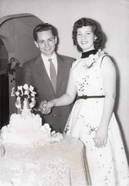 Charles Manson with his first wife Rosalie Willis. c. 1954
