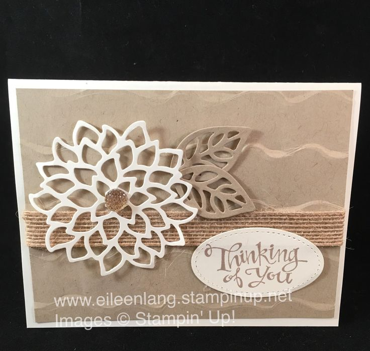 The new Ruffled Embossing Folder created a nice background for my Thinking of You card. This design could be used for a sympathy, and...