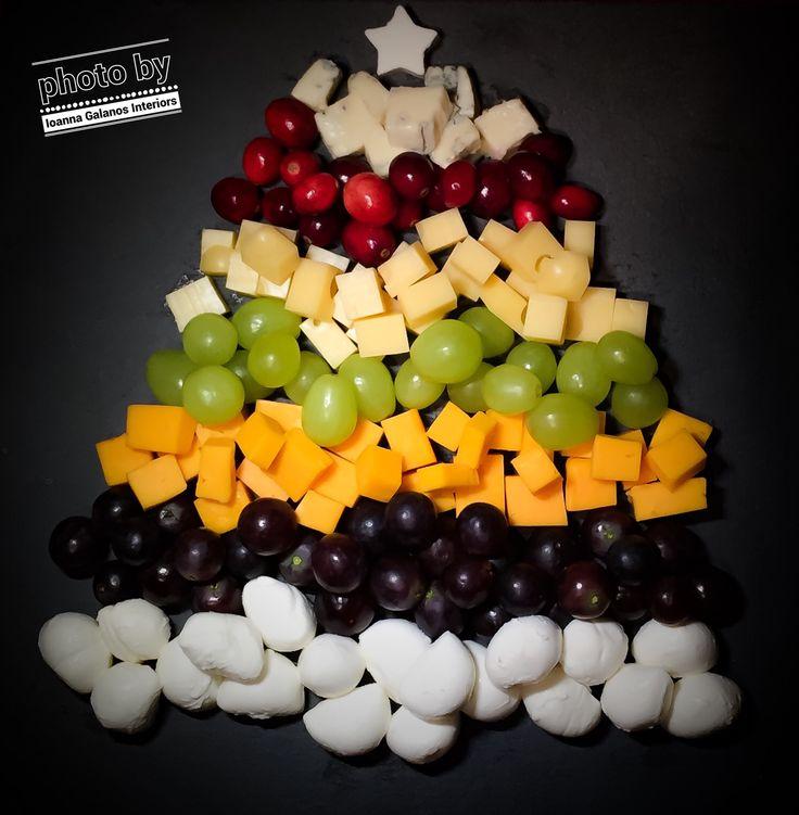 My Cheese & Grapes Xmas Tree 🎄By Ioanna Galanos Interiors (iPhone 6 photo)