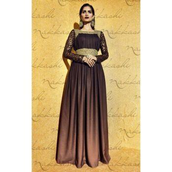 Chocolate Brown Wedding Wear Santoon Salwar Kameez