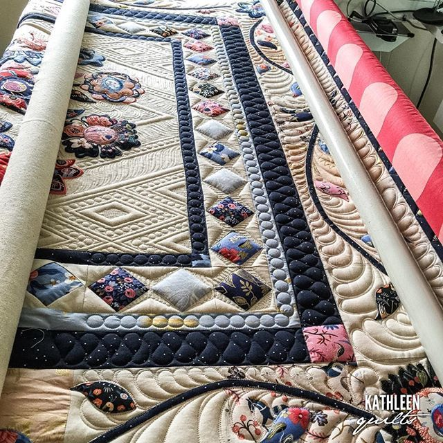 Playing on my new Lucey today-- I get to quilt one of my own quilts…