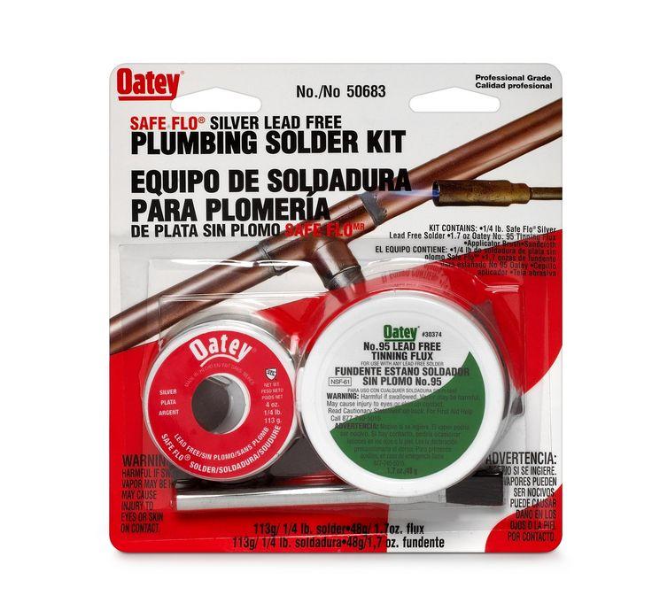 Oatey 50683 Safe-Flo Lead Free Plumbing Solder Kit 8 Oz, Silver