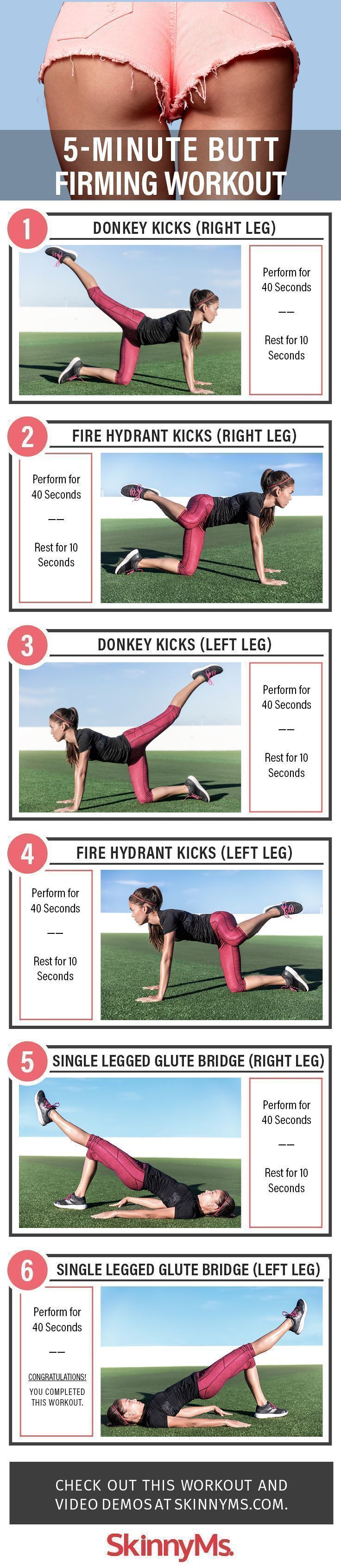 5-Minute Butt Firming Workout | Posted By: CustomWeightLossProgram.com