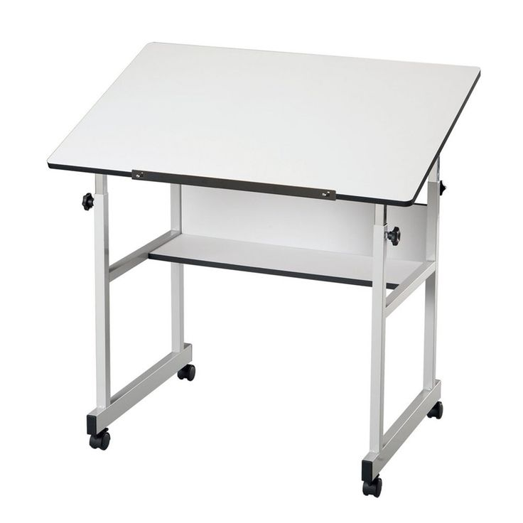 Alvin MiniMaster Adjustable Drafting Table   White   The Melamine Top Is  Great For Having A High Quality Drafting Table In A Tight Room.