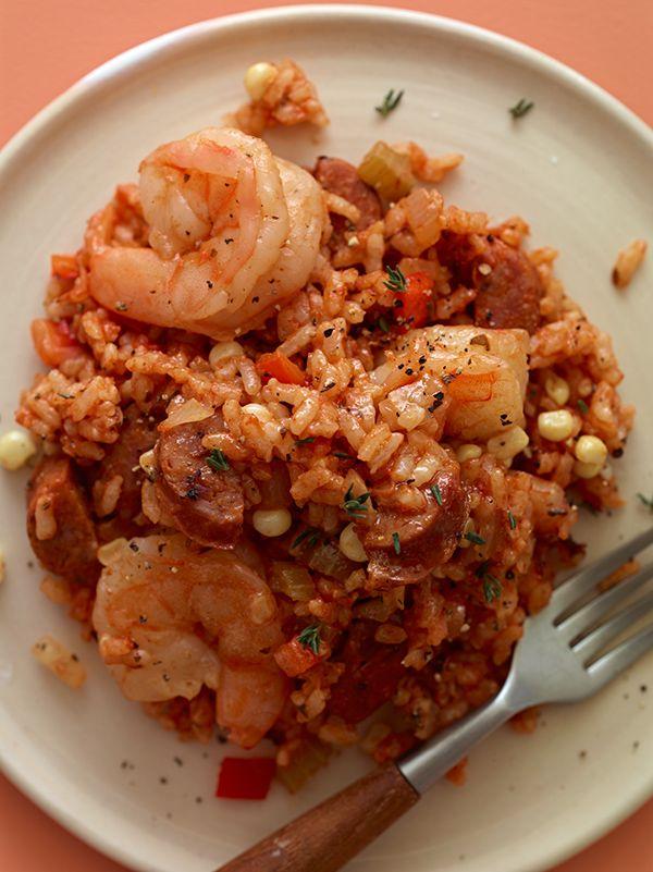 Shrimp & Andouille Jambalaya #AETN #BeMore