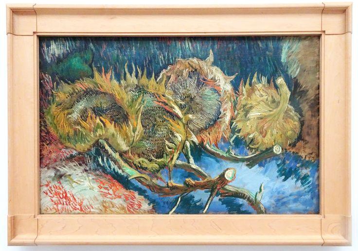 Hoge Veluwe - Museum Kröller-Müller. Vincent van Gogh (1853/1890) - 'Vier uitgebloeide zonnebloemen' - aug/okt 1887 - olieverf op doek. Foto: G.J. Koppenaal - 30/8/2017.