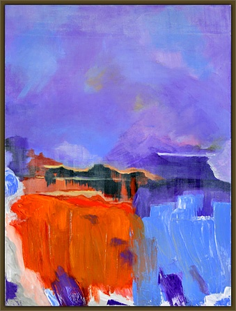 """""""Misty Dreaming"""" by Joy Rome paints a vivid picture with very few strokes.  I should take a lesson from this."""