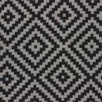 Tissu d'ameublement Jacquard à motifs géométriques noir et beige