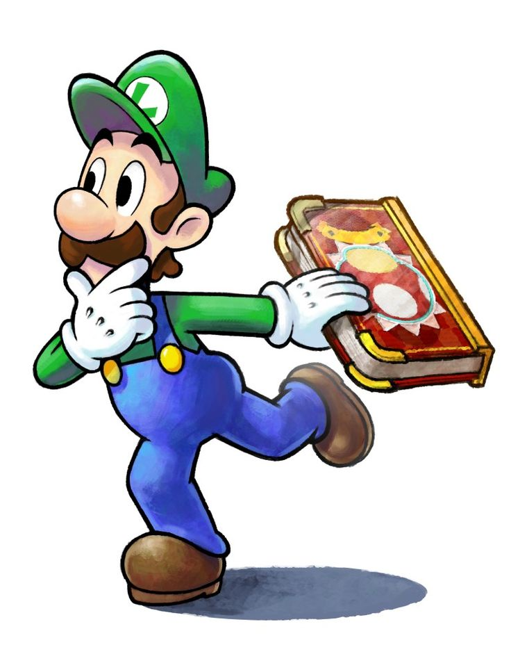 Luigi and the book that contains the Paper a Mushroom Kingdom - Mario & Luigi: Paper Jam