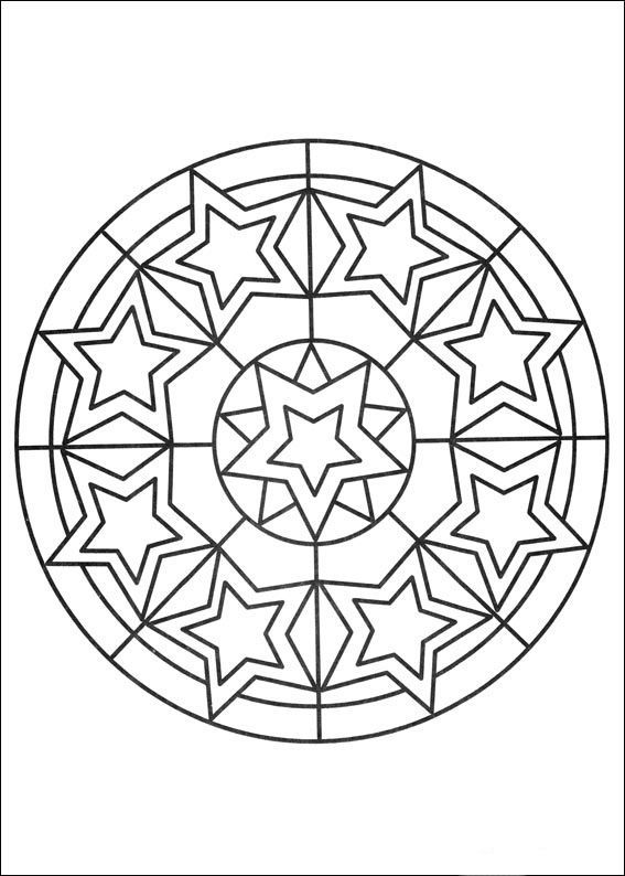 Desenhos para colorir para crianças. Desenhos para imprimir e colorir Mandalas 72
