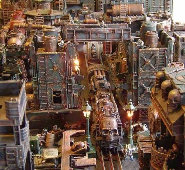 Spikey Bits Warhammer 40k, Fantasy, Conversions and Painted Miniatures: Imperial War Train- City Diorama
