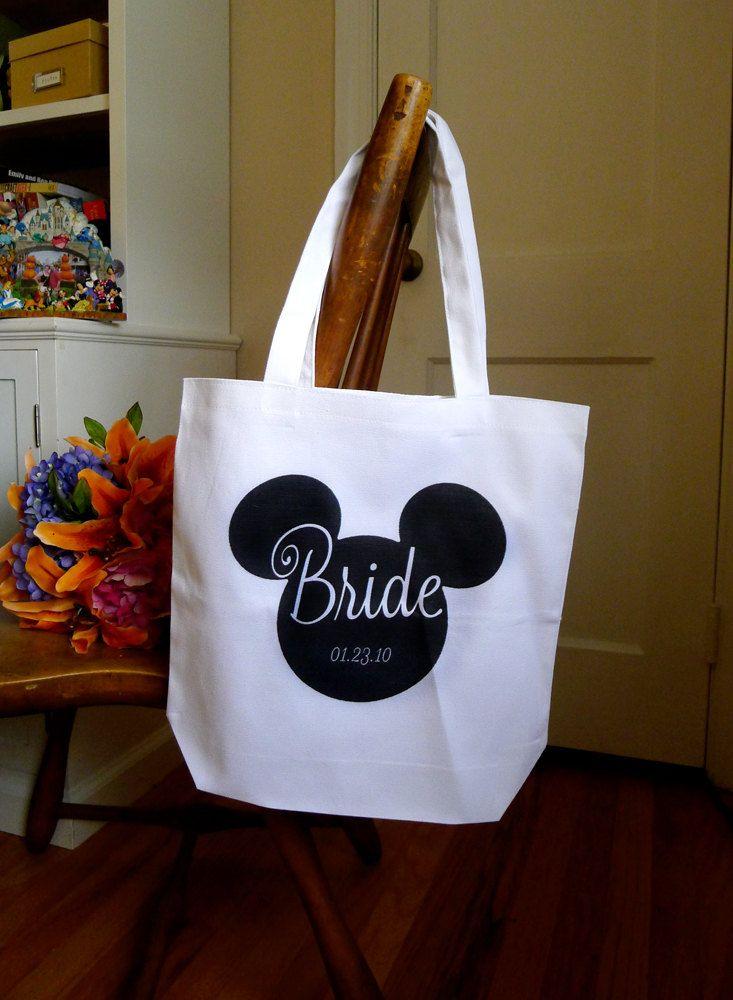 Personalised Wedding Gifts Disney : bridal tote, Disney tote bag, personalized tote bag, wedding gift ...