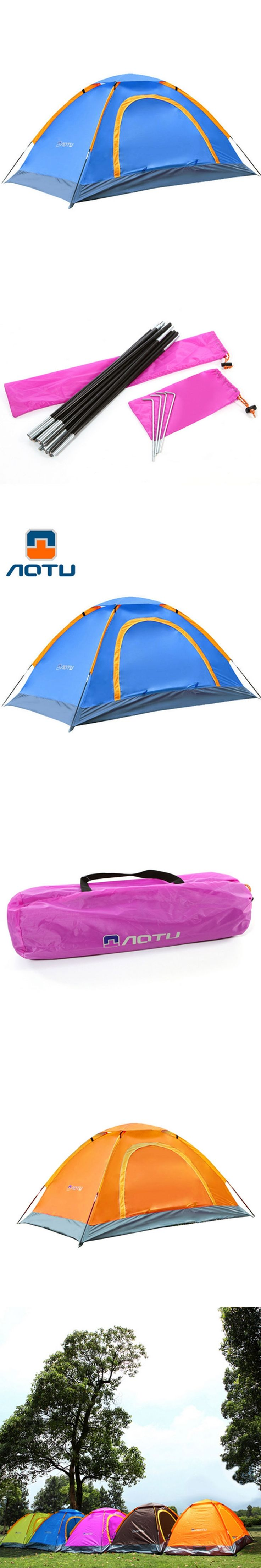 1-2 person single Layer  pressure rubber tent Outdoor Camping Tent Hiking Beach Tent Windproof Waterproof Tent