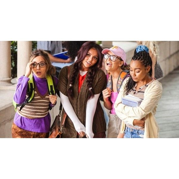 Little Mix pasan de ser 'nerds' a 'jóvenes y brujas' en el videoclip... ❤ liked on Polyvore featuring little mix