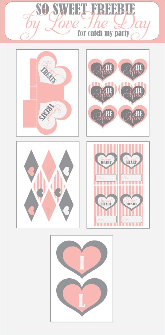 FREE Valentine's Day Printables from Love the Day #free, #diy, #Holiday, #decor, #home, #valentines, #day, #banner, #bunting   #Valentine, #day, #love, #craft, #diy, #heart, #Printable