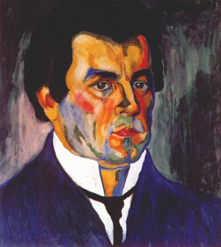 Казимир Северинович Малевич (1879-1935), автопортрет, 1911