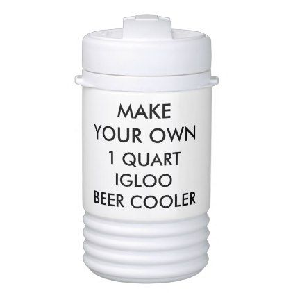 Custom Personalized 1 Quart Portable Beer Cooler - create your own gifts personalize cyo custom