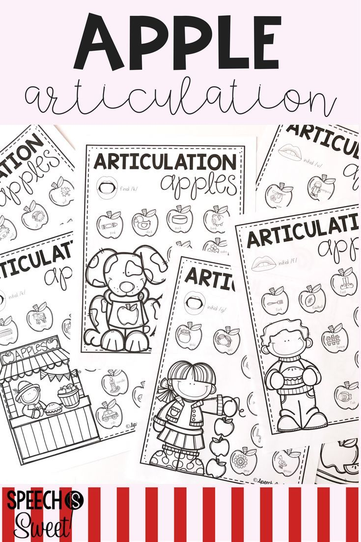 Coloring activities speech therapy - Apple Articulation Articulation Therapyspeech Roomspeech Activitiesplay