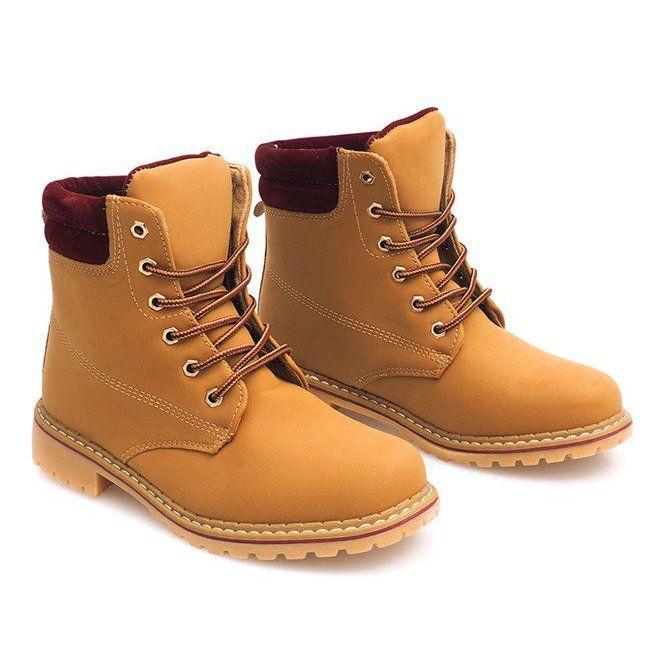 Jesienne Timberki Trapery 1 16 Yell Red Brazowe High Quality Leather Women Shoes Footwear