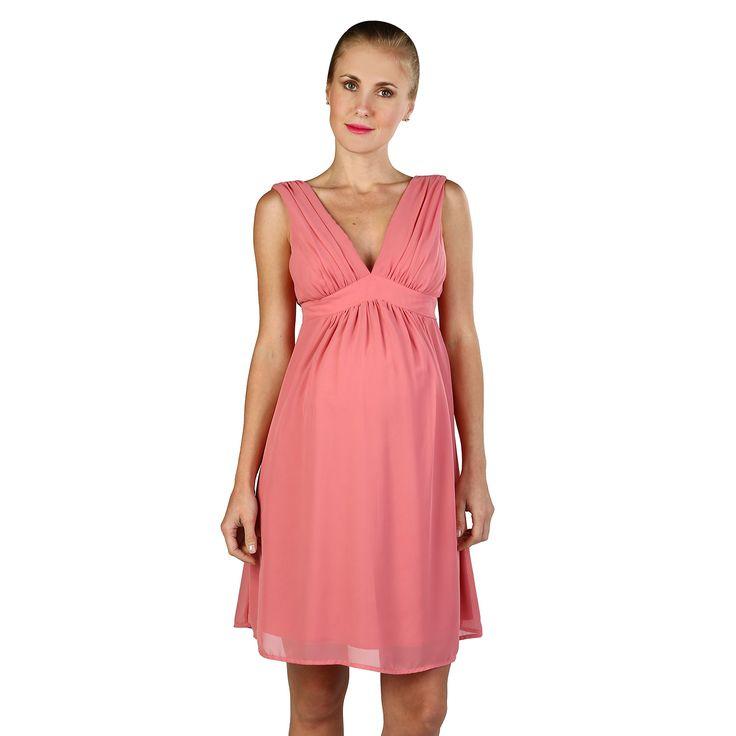 Vestido Elegant Cristal Gasa Corto Palo de Rosa