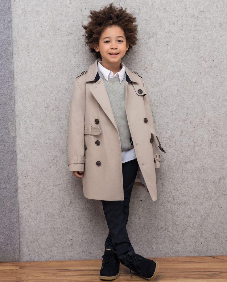 Little Boy's Romeo Trench Coat - Bardot Junior