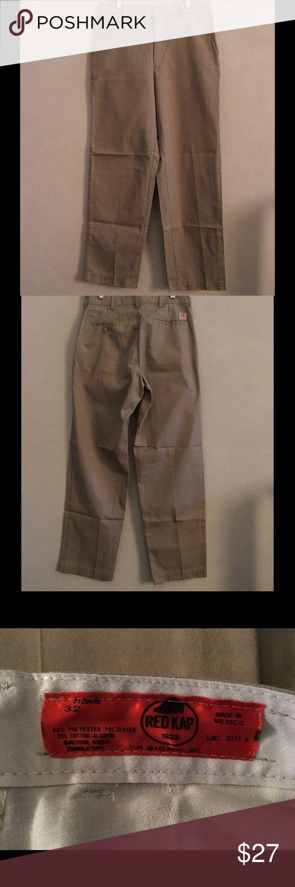 Red Kap Uniform Khaki Slacks ✨Never Worn✨ Flat front uniform khakis.  Men's size 32.  3 pair available. 🚫No Trades❗️Reasonable offers only 🎯 Red Kap Pants Chinos & Khakis