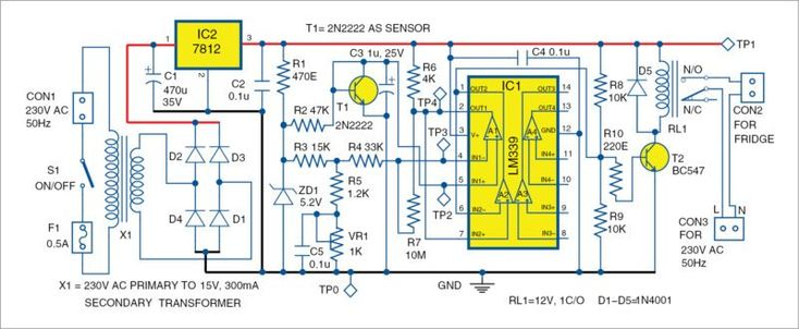 Electronic Thermostat For Fridge Thermostat Simple Circuit
