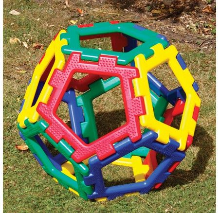 Super Giant Pentagon Polydron Set - 12 Pieces - the pieces have slightly raised texture to help children identify the shape, and there is also a Braille insert which reads 'Giant Pentagon' inserted on each shape to make children aware of alternative forms of communication. A fun way to construct a shape and explore the shape created, and add a new dimension of creativity.