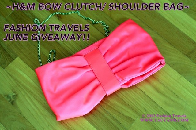 Join this H Neon Pink Bow Clutch/Bag here: www.tauyanm.com  Enjoy the giveaway!! x0x0 =)