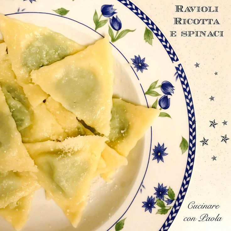 Ravioli ricotta e spinaci!senza uova!