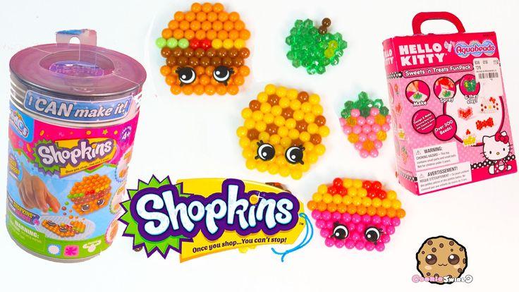 Shopkins I Can Make It Beados & Hello Kitty Sweets n Treat Aquabeads DIY...