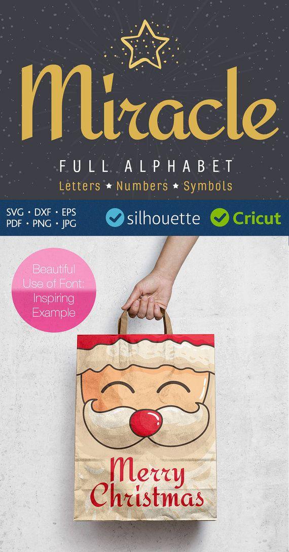 Clipart svg font Christmas Alphabet cut letters Silhouette cut