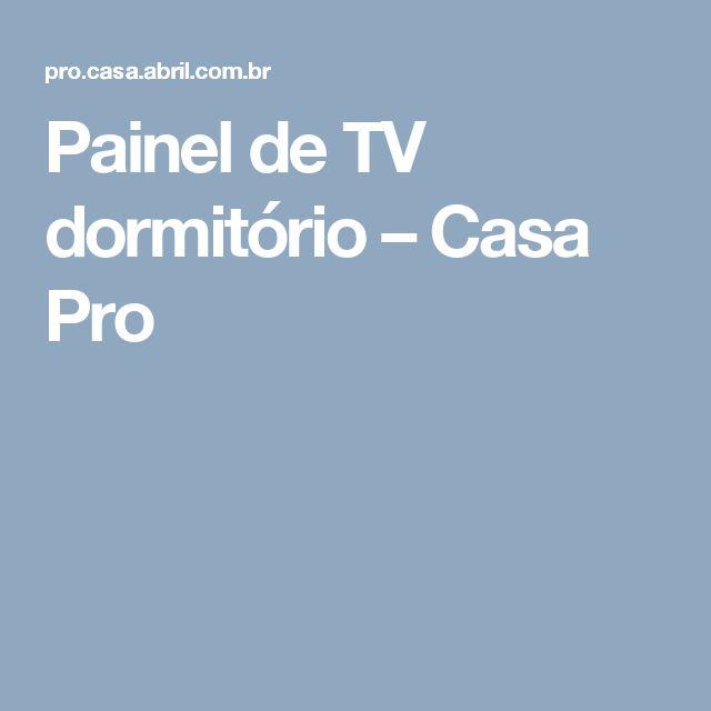 Painel de TV dormitório – Casa Pro