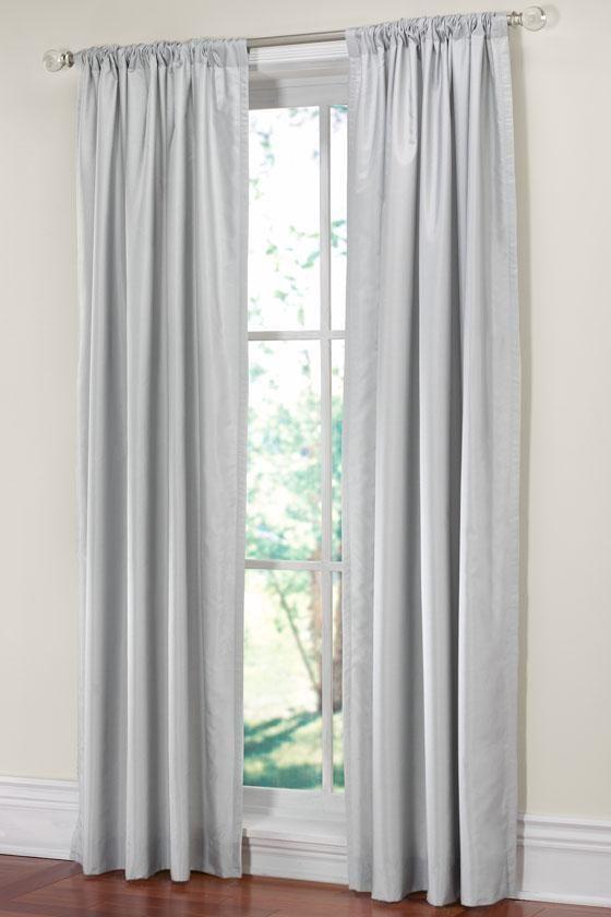 Martha Stewart Living™ Faux Silk Drapery Panel   Add A Little Elegance To  The Bedroom