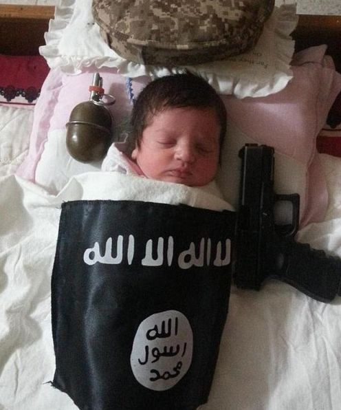 """ISIS Muslim Militants Intentionally Blow-up a Baby as Part of a Training Class on Demolitions 