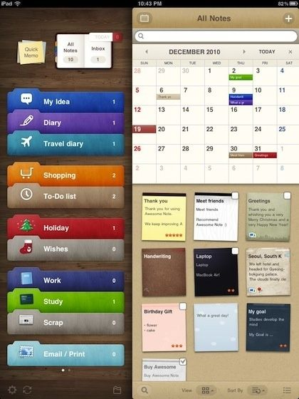 The Awesome Note App for iPhone and iPad is the best calendar/to do list I have found yet by lucklessgem