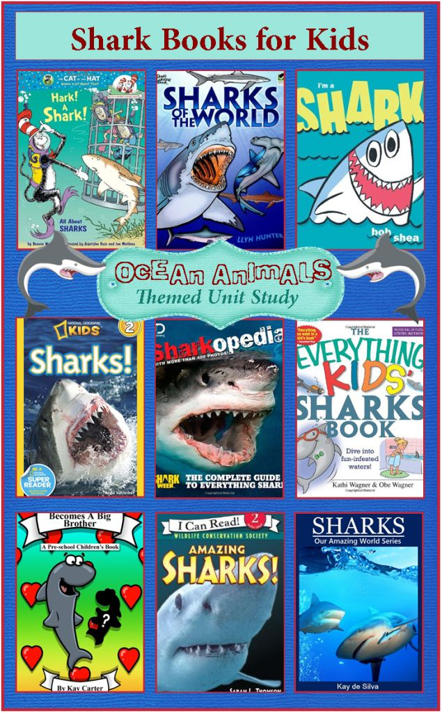 Shark Week Books for Kids {Ocean Animals Unit Study}