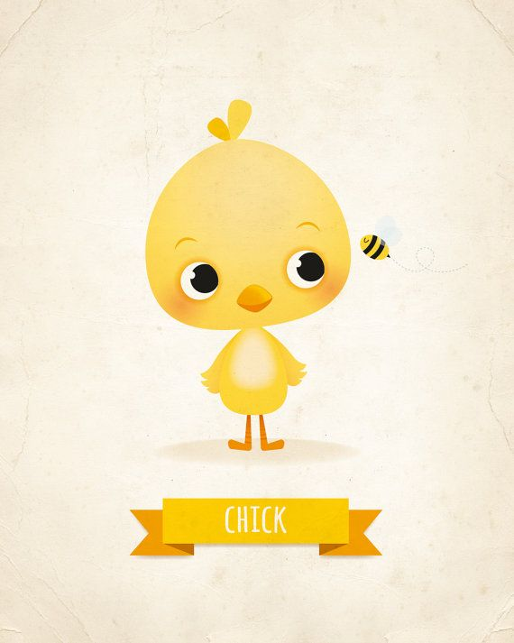 This little chick print would look adorable in any nursery or for any grown up who cant resist a cute chick!  All my prints are original