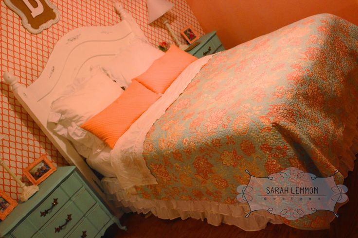 Sarah Lemmon Designs: Coral & Mint- Girl's Bedroom