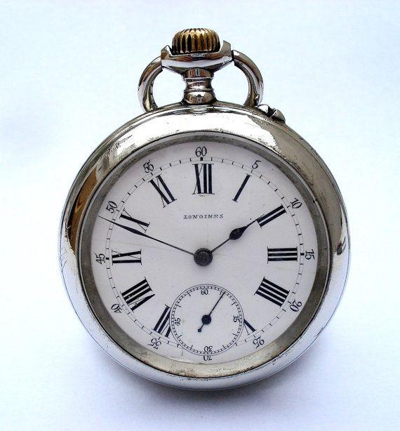 Say your offer ! Vintage Reloj De Bolsillo Suizo LONGINES Open Face 50mm 1890c (reloj con 124 años de antiguedad) Funcionando