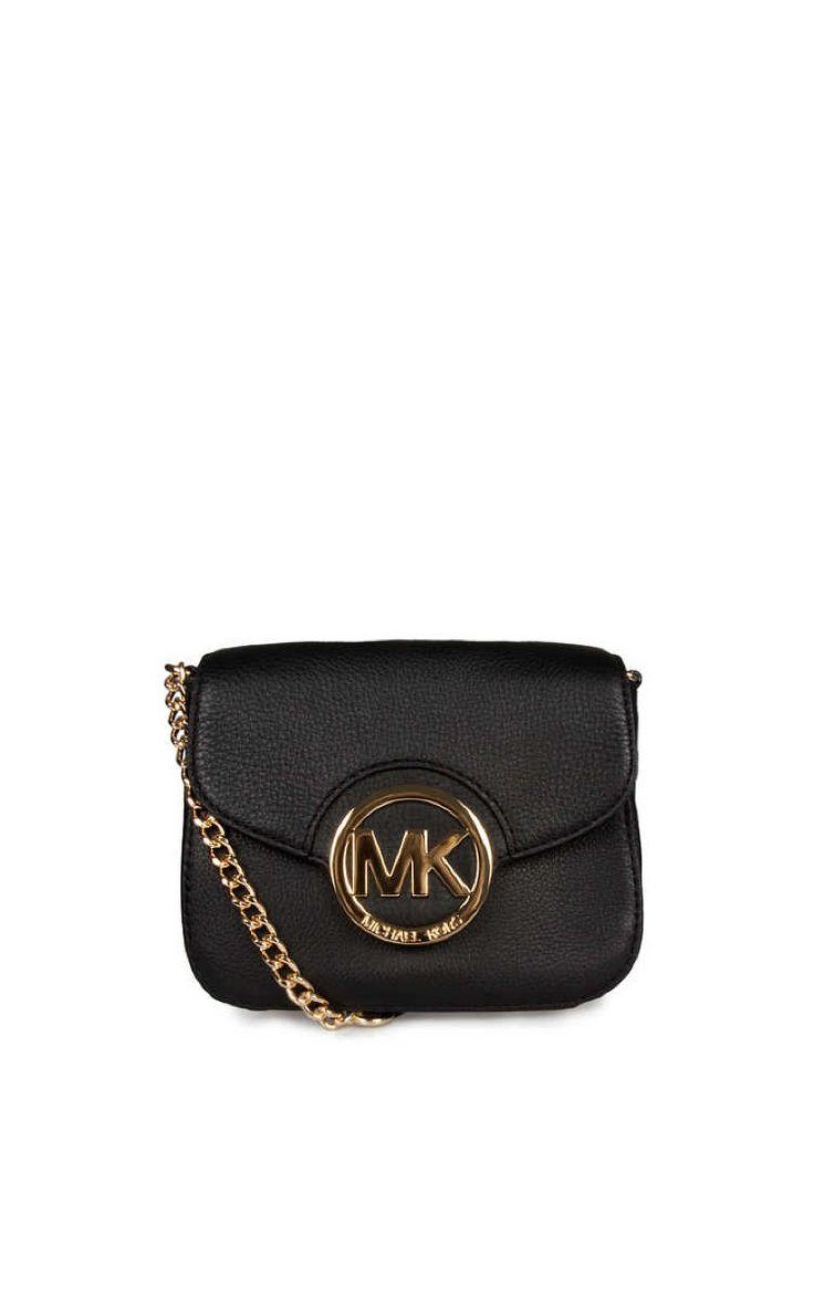 Väska Fulton SM Crossbody BLACK/GOLD - Michael - Michael Kors - Designers - Raglady