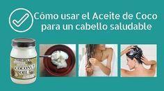 El aceite de coco es una #mascarilla ideal para recuperar el #cabello. #recetas, #aceite, #pelo, #aceitecoco, #cuidadodelcabello, #recetasfaciles